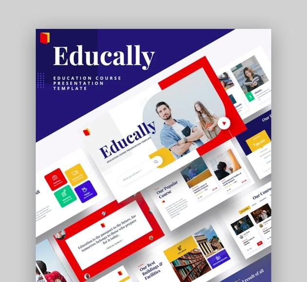 Educally - Education Course Google Slides Template