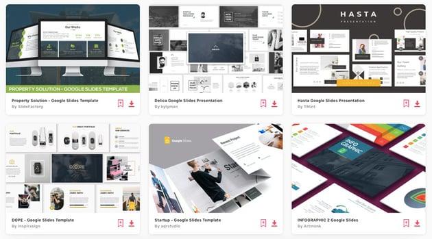 Envato Elements gives you unlimited downloads of Google Slides presentation themes