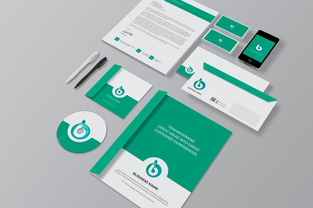 This brand package template is fully and easily customizable.