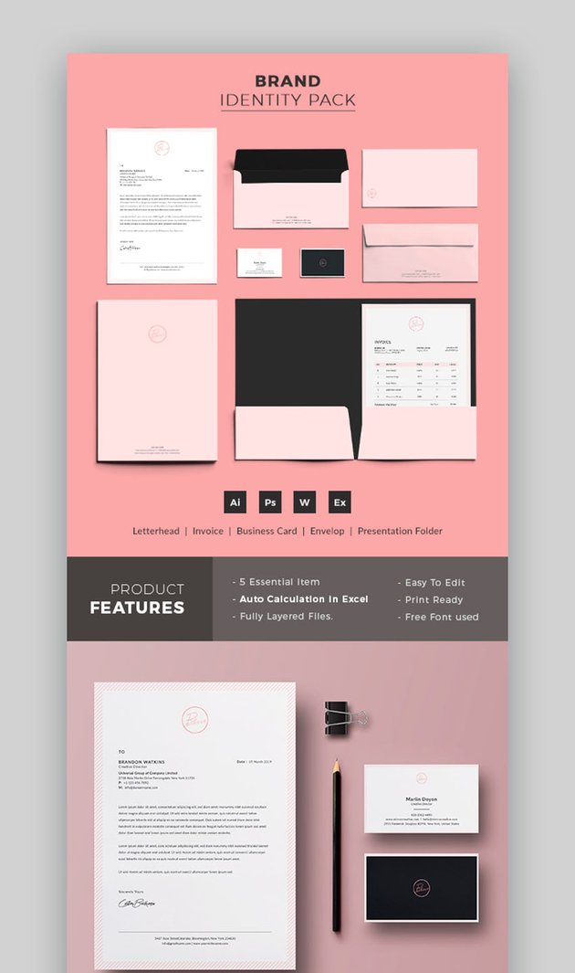 Pink Company Branding Package