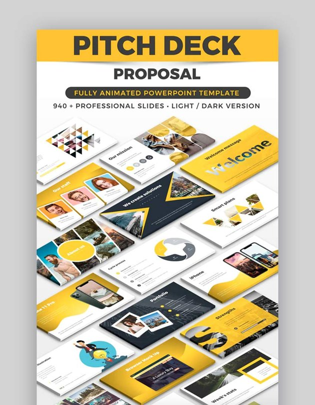 Pitch Deck Proposal - Modern PowerPoint Template