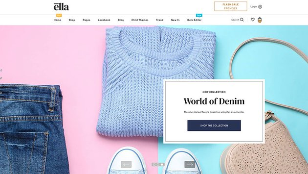 Ella is one of the best selling Shopify eCommerce themes.