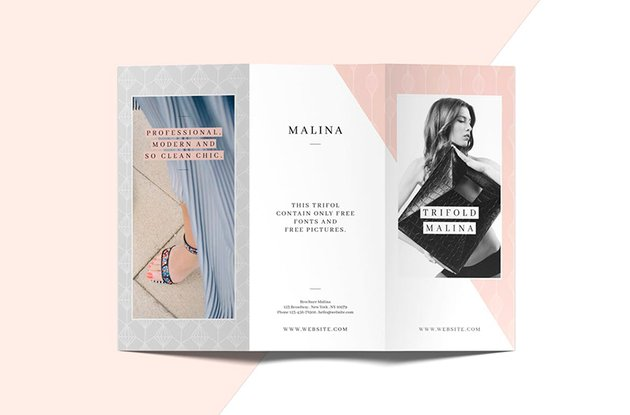 The Malina Trifold is one of the most popular flyer templates on Envato Elements.