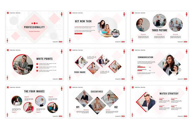 Diese professionellen PowerPoint-Folien-Layouts sind modern und attraktiv.