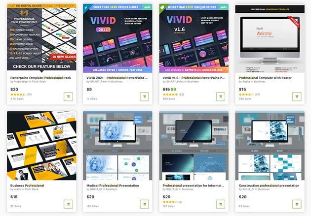 Wenn Sie nach einem professionellen Premium-PPT für einen einzigen Kauf suchen, finden Sie einen auf GraphicRiver.