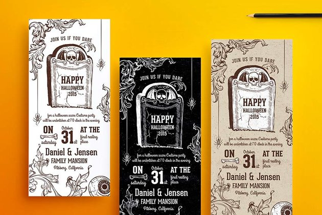 Halloween Party Invitations (PSD)