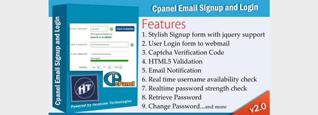 CPanel Email Signup PHP Form