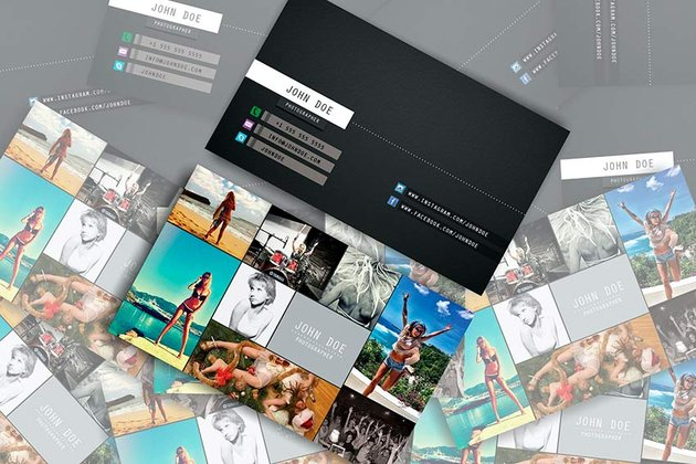 Business Card Collage Template (PSD)