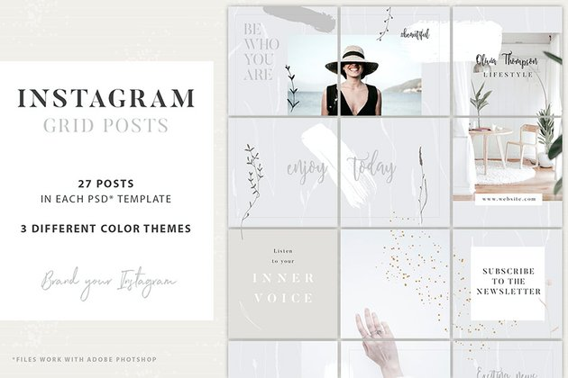 Instagram Grid Collage Template (PSD)