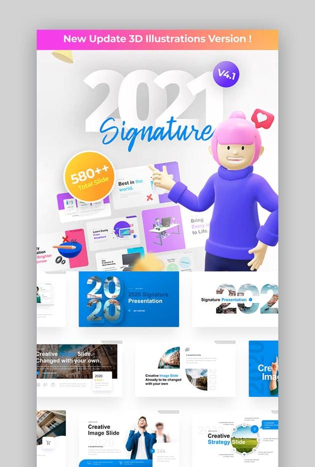 2021 Signature Multipurpose Premium PowerPoint Presentation Template