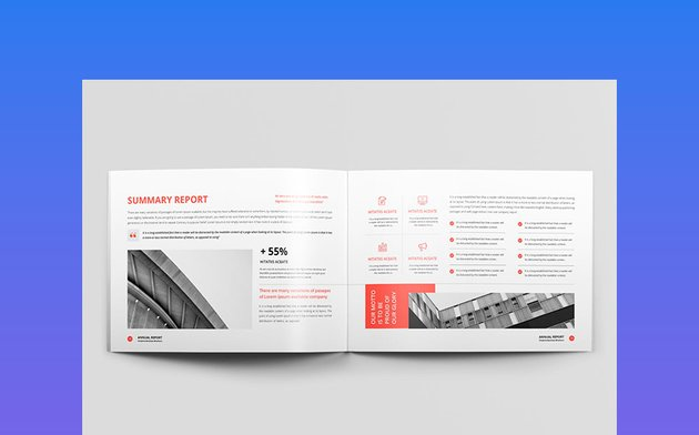 Annual Report Landscape A4