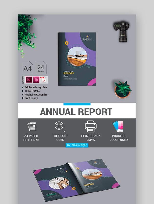 Modern Annual Report Design Template