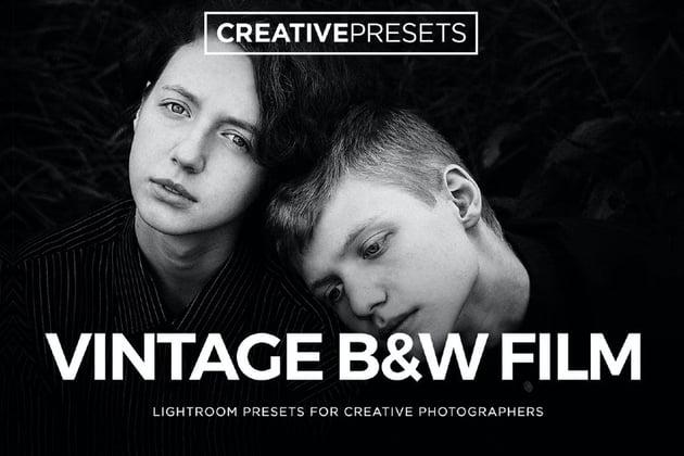 Vintage Black and White Lightroom Film Presets