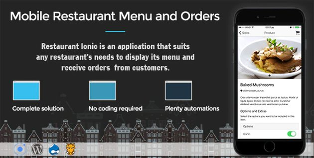 restaurant Ionic 5 - Full Application with Firebase backend