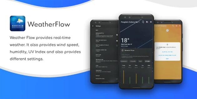 Weather Flow - Live Weather Forecast Design App
