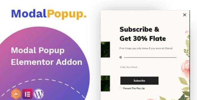 Complemento de Elementor para crear caja modal de popup