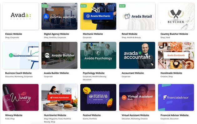 Avada is one of the best premium WP themes you can get. Check out its 84 prebuilt websites here.