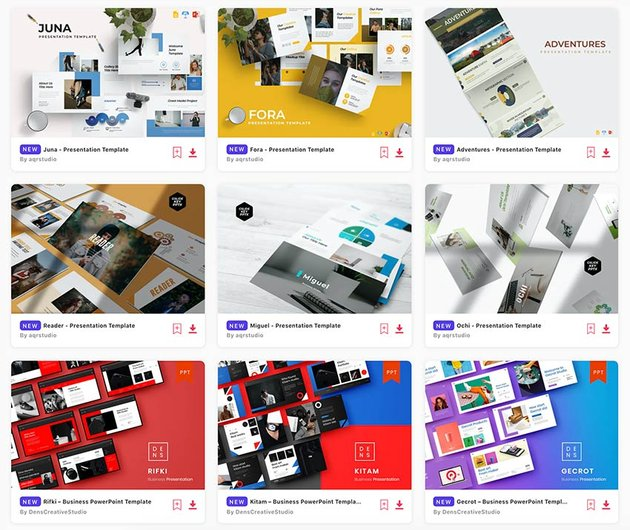 There are thousands of best PowerPoint templates on Envato Elements.