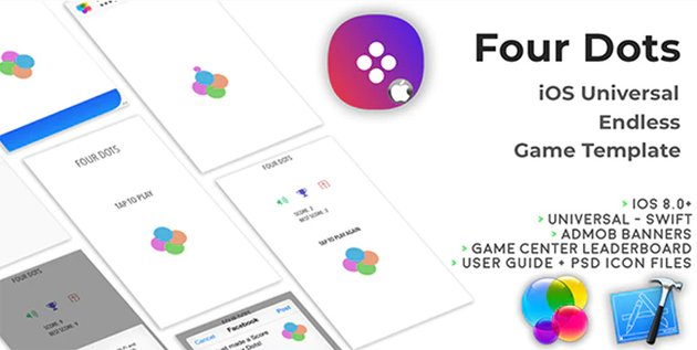 Four Dots - iOS Universal Xcode Game Template