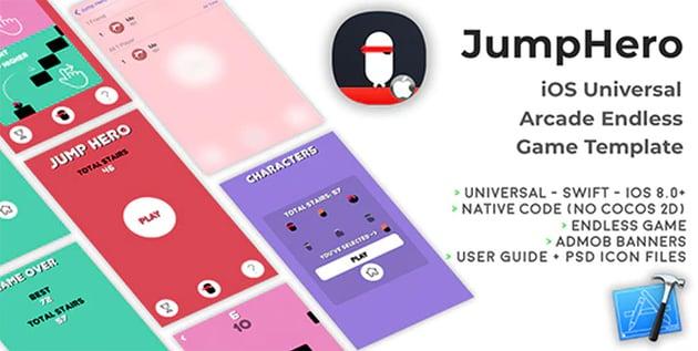 JumpHero - iOS Universal Xcode Game Template
