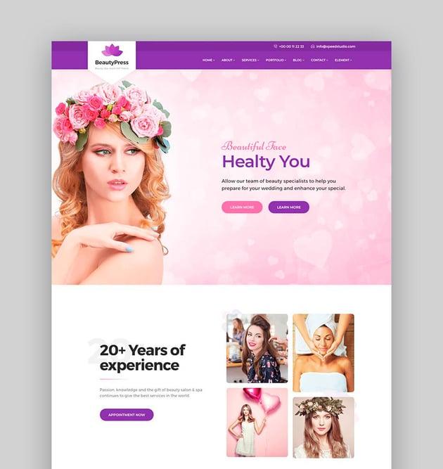 Beauty Press - Beauty Salon Spa WordPress Theme