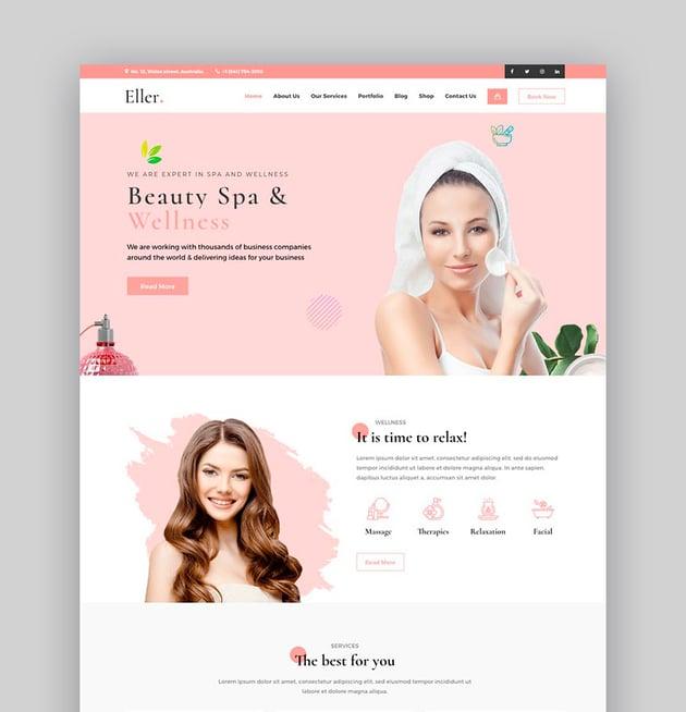 Eller - Elegant Spa Wellness WordPress Theme