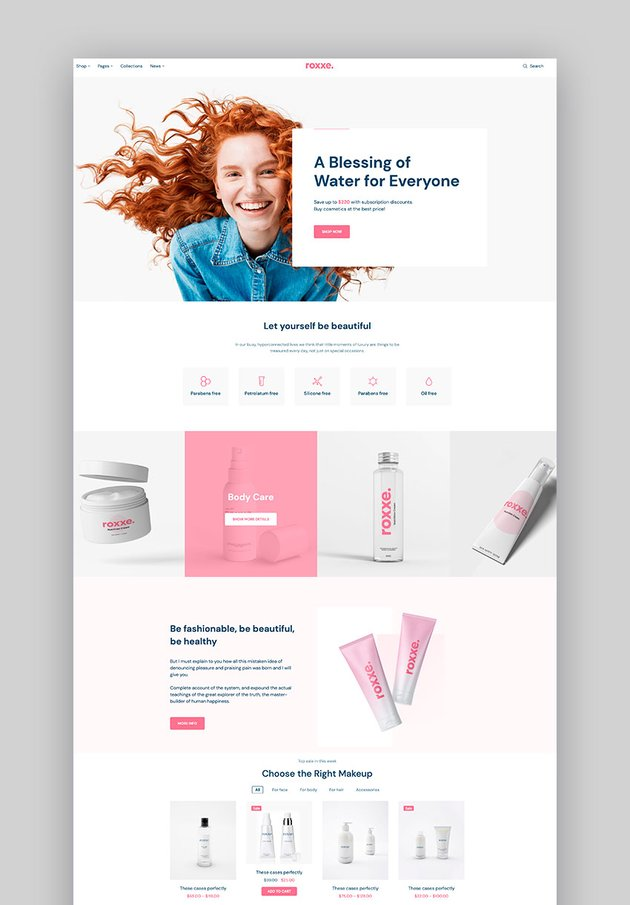 Roxxe - Beauty Salon WooCommerce Theme