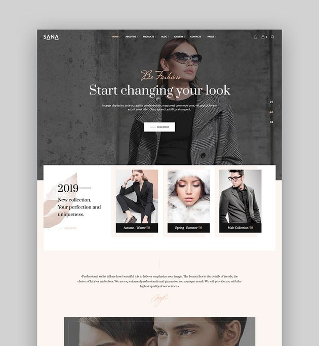 Sana - Beauty Salon  WordPress Theme