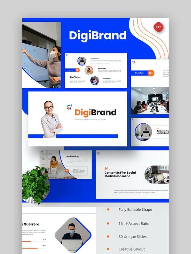 DigiBrand - Social Media Marketing Powerpoint