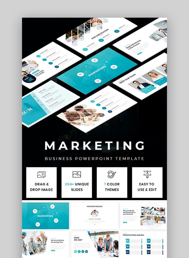 Marketing PPT - Business Powerpoint Template