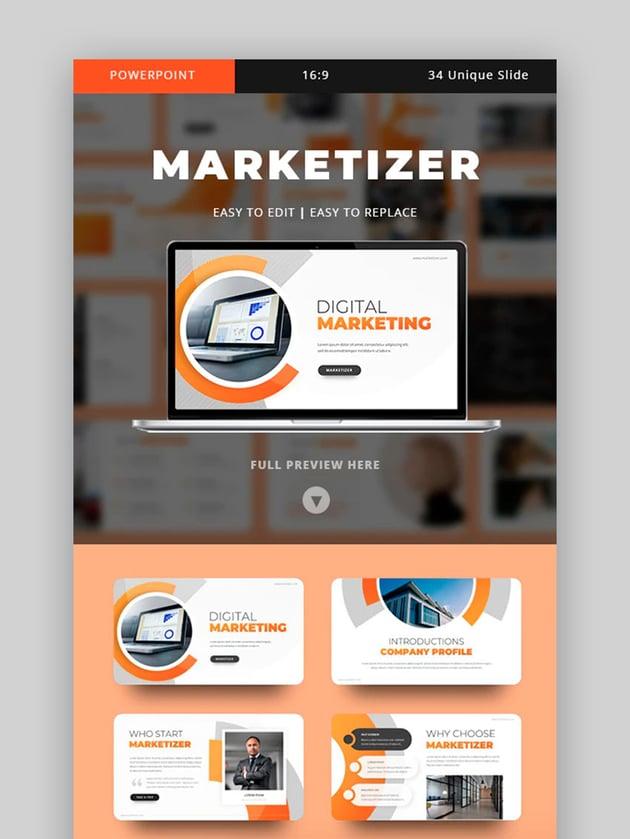Marketizer - Marketing Plan Template PPT