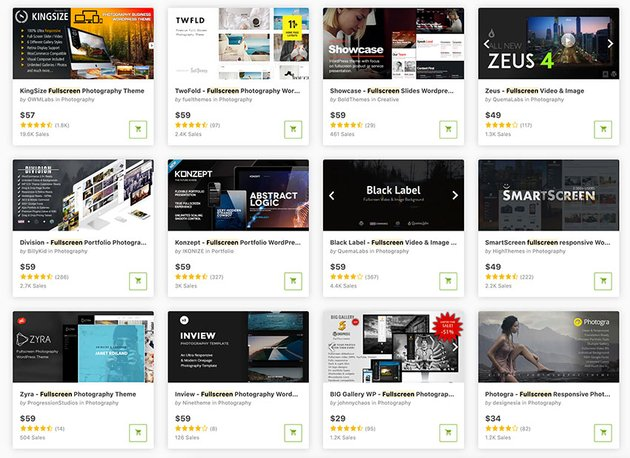 Find the best WordPress full screen image themes on ThemeForest.