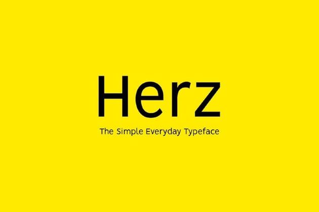 HERZ - Simple Sans Serif Typeface