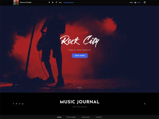 Music Journal Free WordPress Theme For Musicians