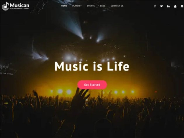 Musican Free WordPress Theme For Musicians