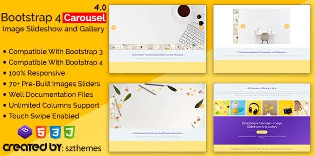 Bootstrap 4 Carousel - Bootstrap Slider HTML  Code