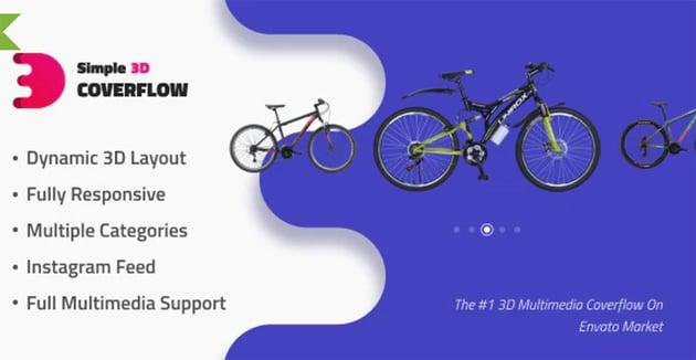 Simple 3D Coverflow HTML5 Photo Slider
