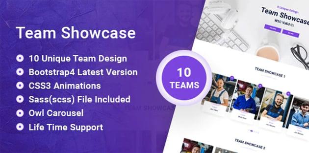 VS Team - Team Showcase HTML5 Photo Slider