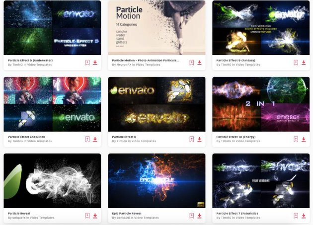 Enjoy unlimited downloads of particle effect After Effects templates