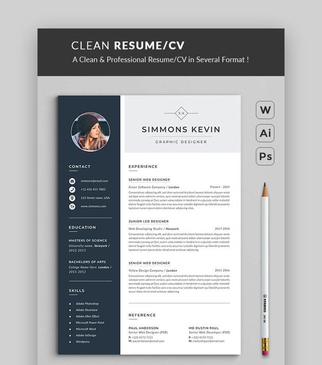 Resume/CV - Simple Resume Template