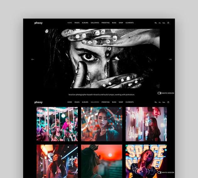Phoxy WordPress Photography Theme