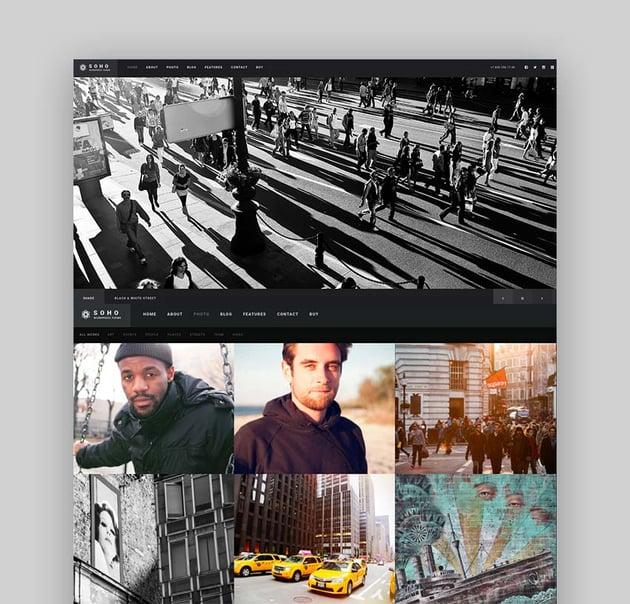 Soho WordPress Photography Theme