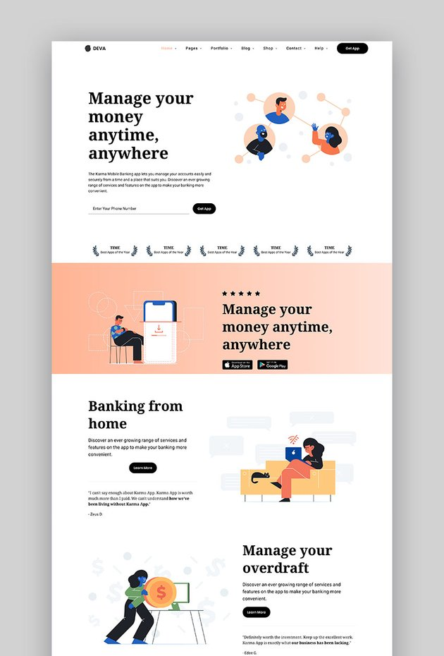 Deva - New WordPress Landing Page Template