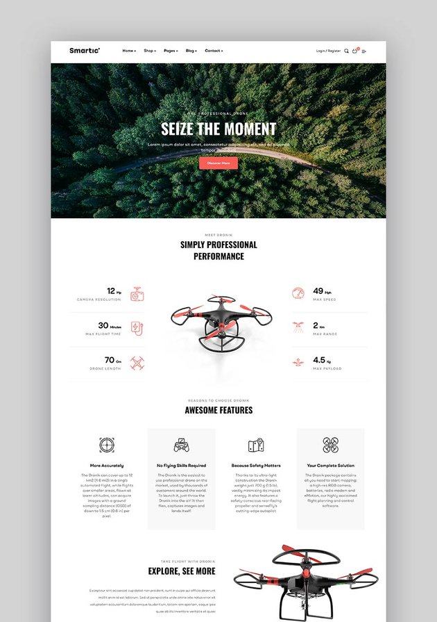 Smartic - WordPress Landing Page WooCommerce Theme
