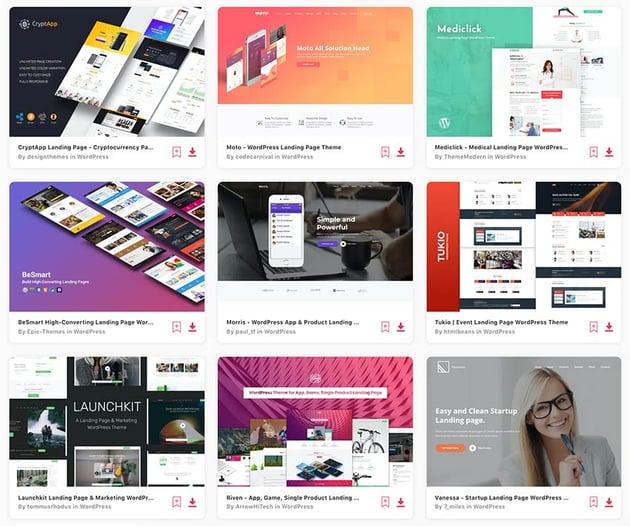 Enjoy unlimited WordPress landing page theme downloads from Envato Elements.