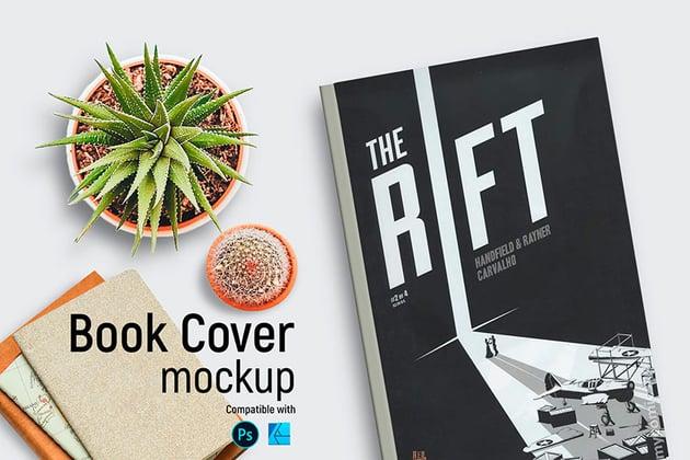 Book Cover Mockup (PSD, JPG)