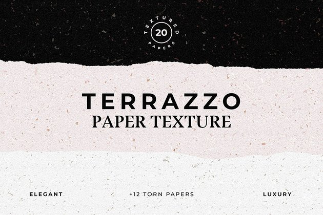 Terrazzo Textured Paper Bundle (AI, EPS, JPG, PNG)