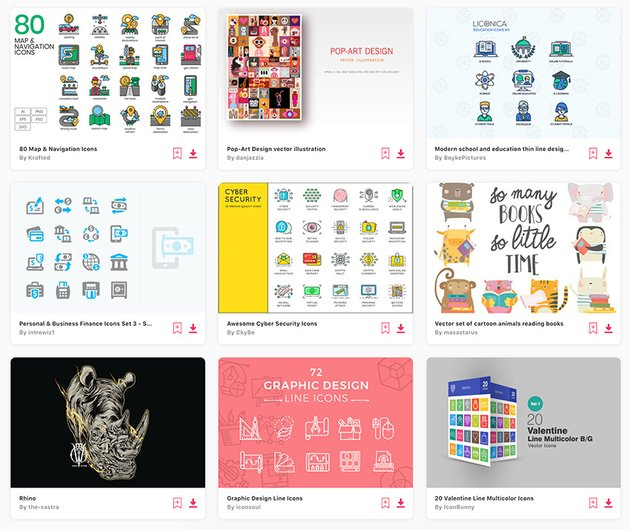 Be sure to visit Envato Elements's huge library of SVG icons.