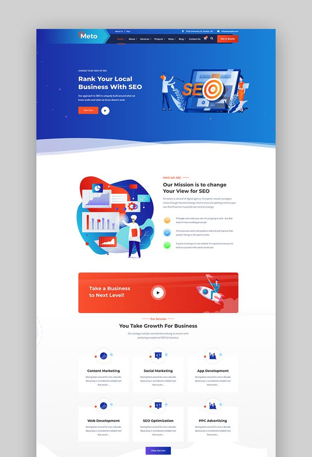 Meto - SEO & Marketing WordPress Theme