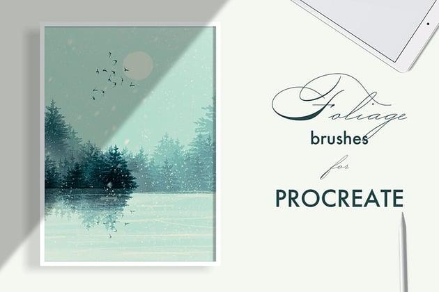 Foliage - Procreate Tree Brushes